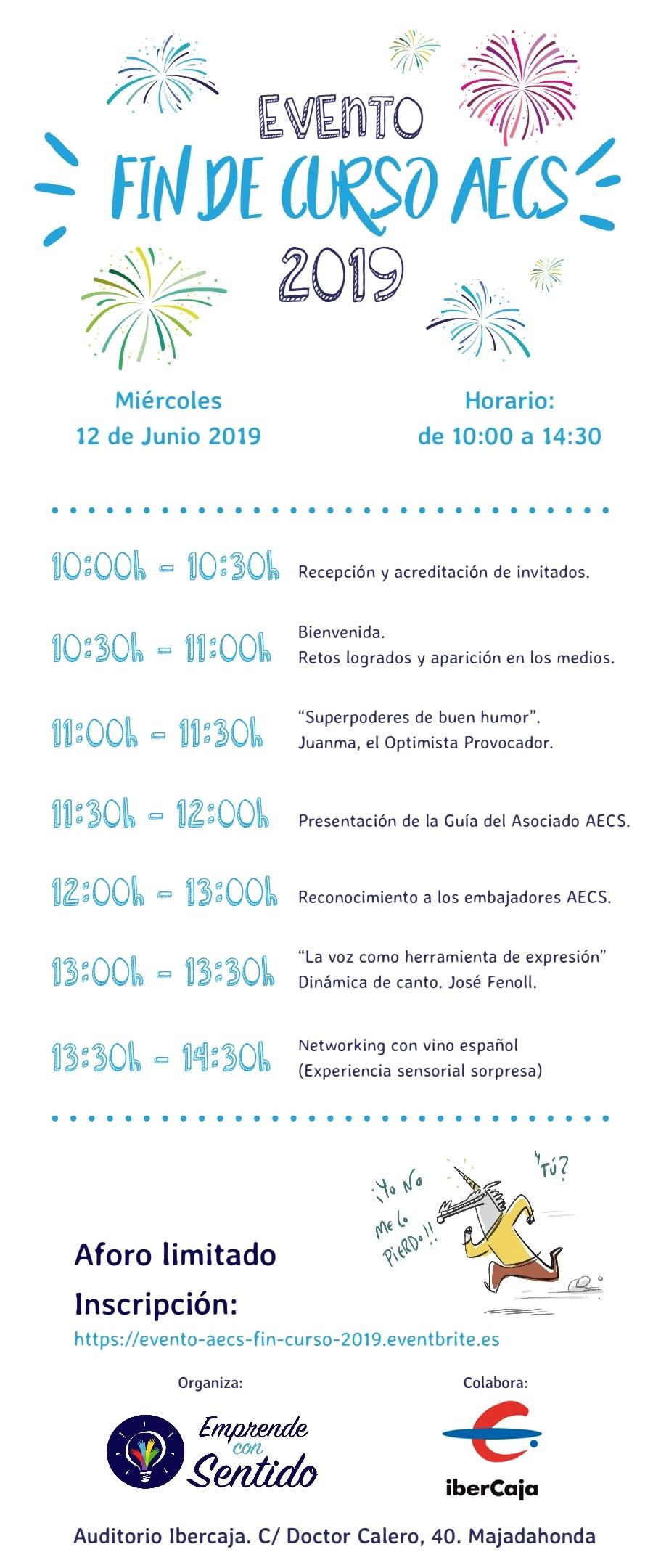 Cartel Evento fin de curso AECS 2019